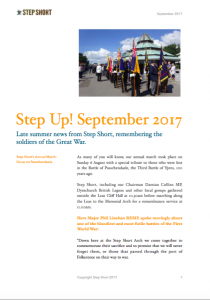 Step Up Step Short Newsletter September 2017